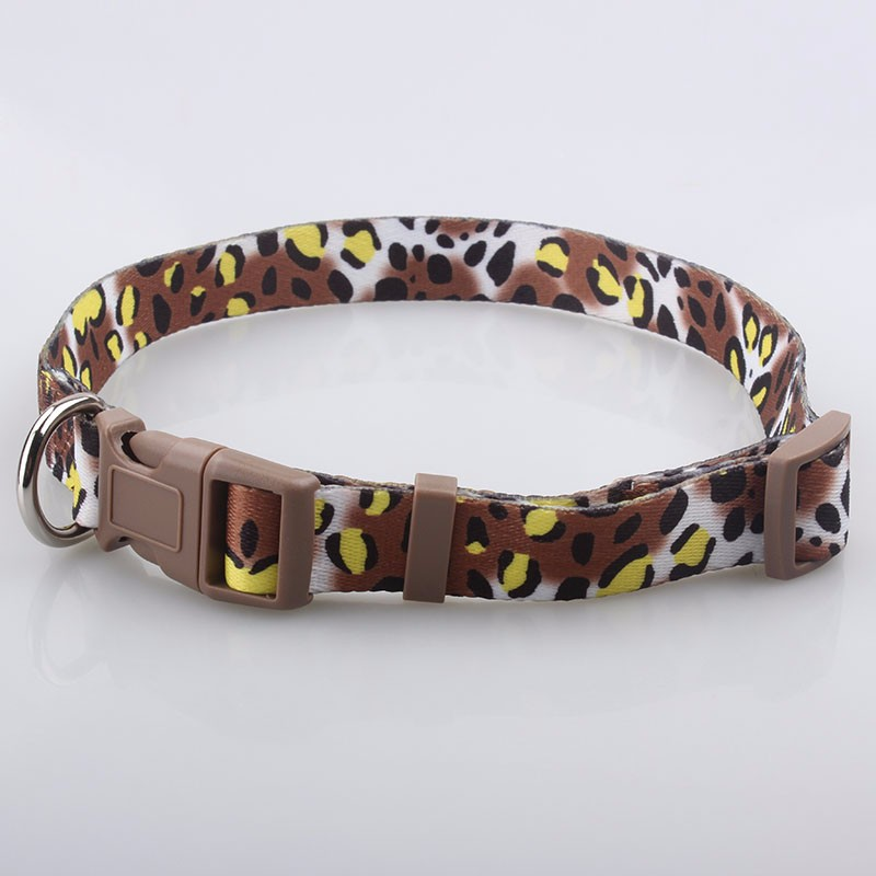 No minimum order quantity free design custom logo printed dog collar manufacturer