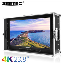 Seetec new 24 inch monitor stand with 4k hdmi sdi 3840x2160 quad slip display carry-on case