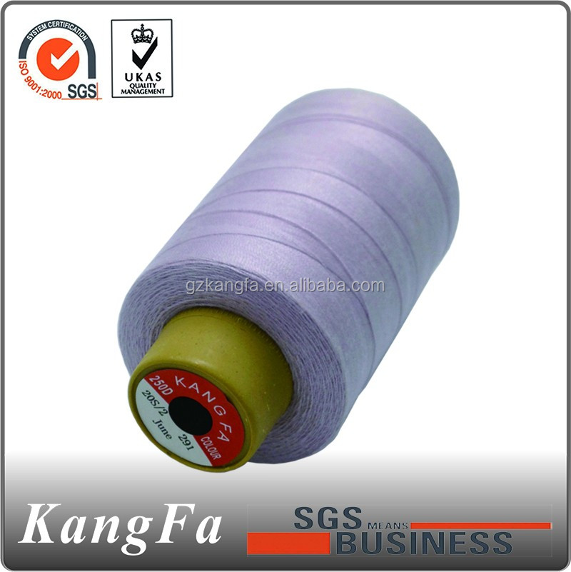 Kangfa china raw colours 210d/3 carbon sewing thread factory