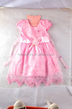 cheapest cute princess pink skirt lovely kids ribbon dress for party