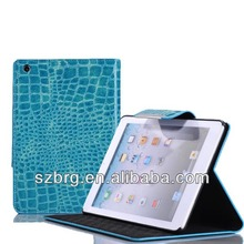 Best quality Genius Crocodile leather case for ipad , for ipad cover