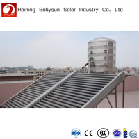 Non-pressure horizontal vacuum tube solar collector for large projects