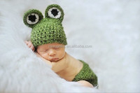 2015 Hot Handmade Newborn Baby Girl/boy Knitted Hat+Diaper Cover Set Crochet Photography Props Frog Costume 0,2-8month