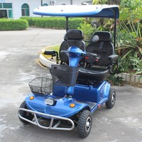 Hot sale electric four wheel double seat mobility scooter
