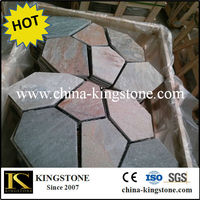 Outdoor paving,meshed flagstone,slate paving stone.