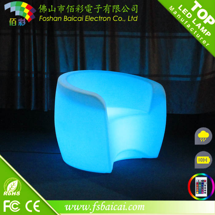 bar table and chair / garden furniture / illuminated led bar chair