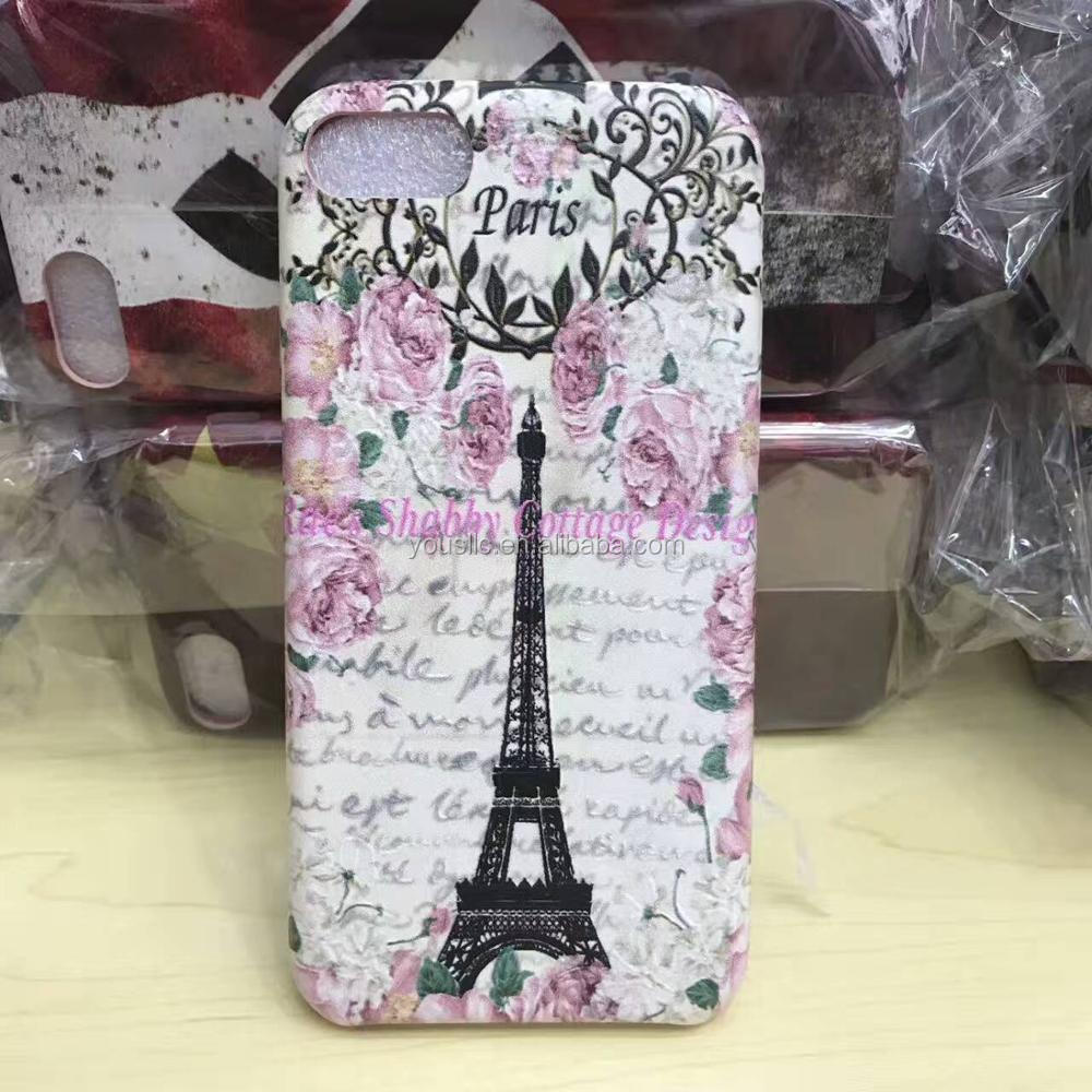 Print Slim PU leather Cell Mobile Phone Case for apple iphone7 7Plus