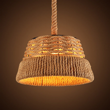 American countryside new design hemp rope home decorative light