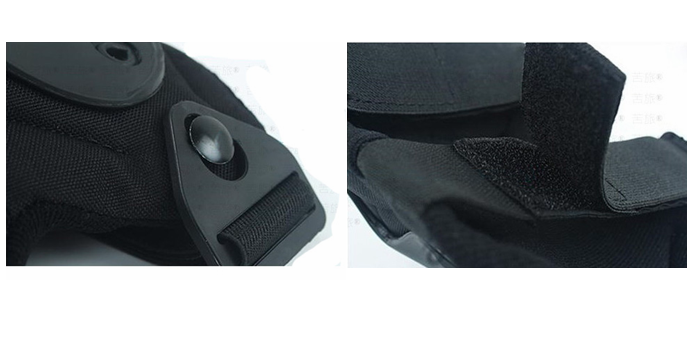 Black Gel Outdoor Adjustable Military Paintball Army X- cap knee pads/ Factory Wholesale