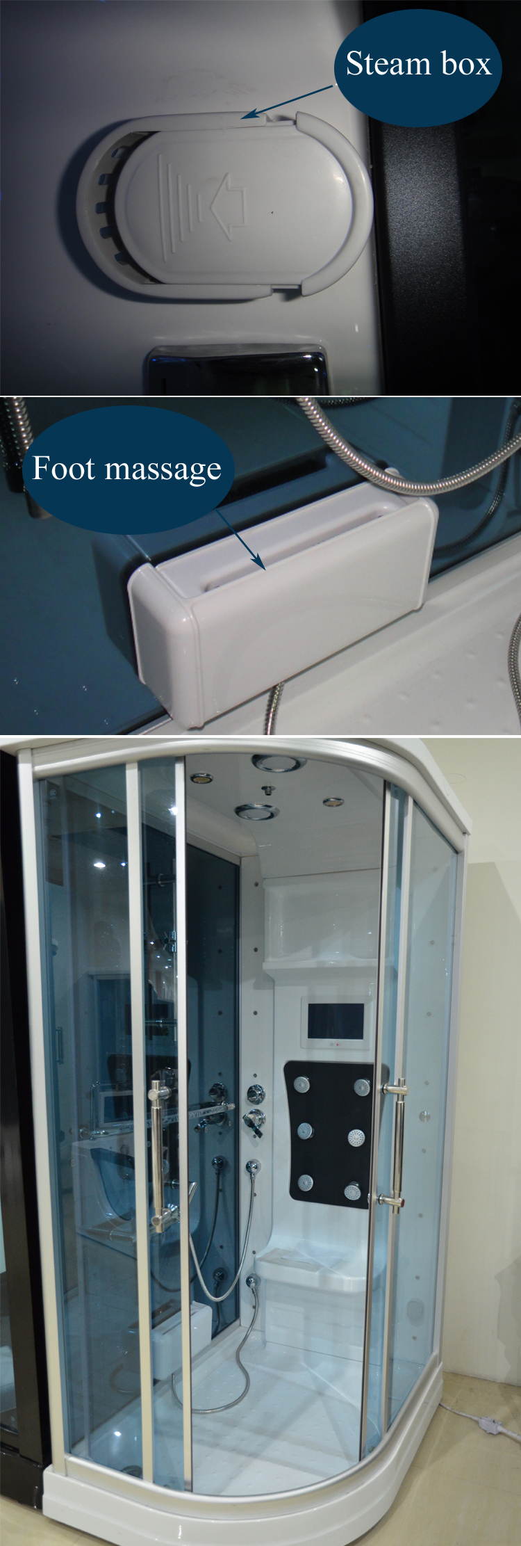 HS-SR010 hydromassage shower cabin/ japan sex steam bath/ personal steam cabinet