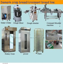 croissant bread production Line used baking Equipment dough roller sheeter