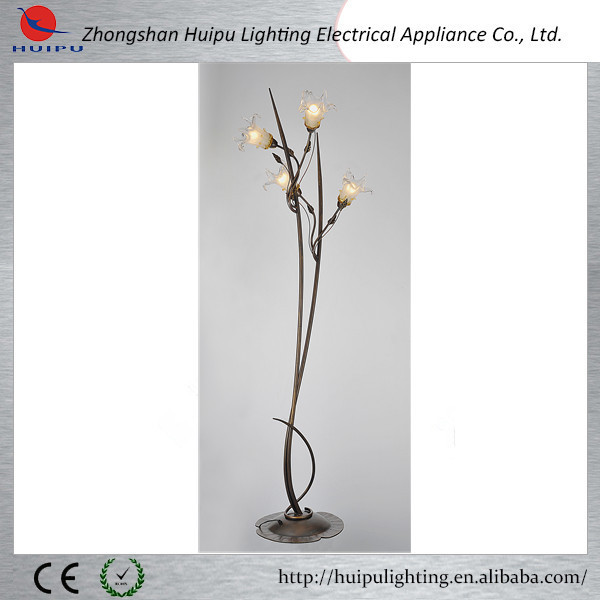 indoor decorative glass flower fancy floor lamp