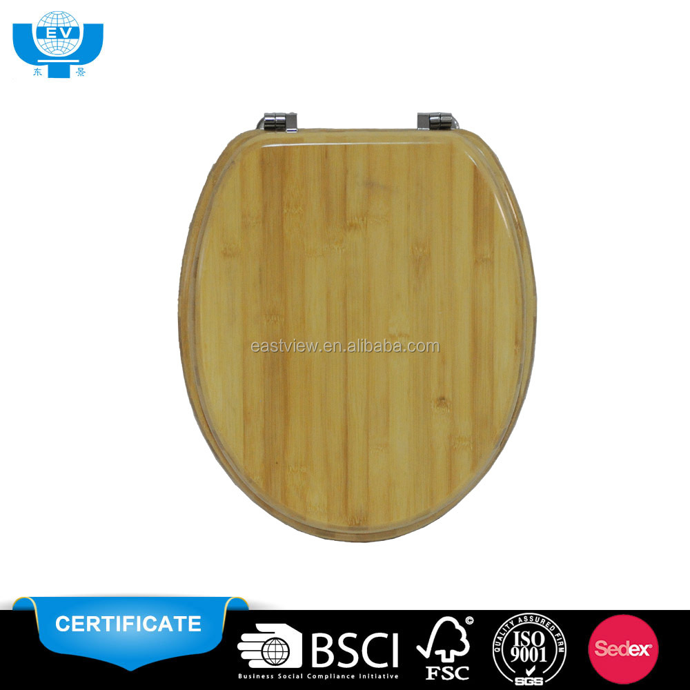 accept OEM/ODM 18 inch bamboo wc toilet seat