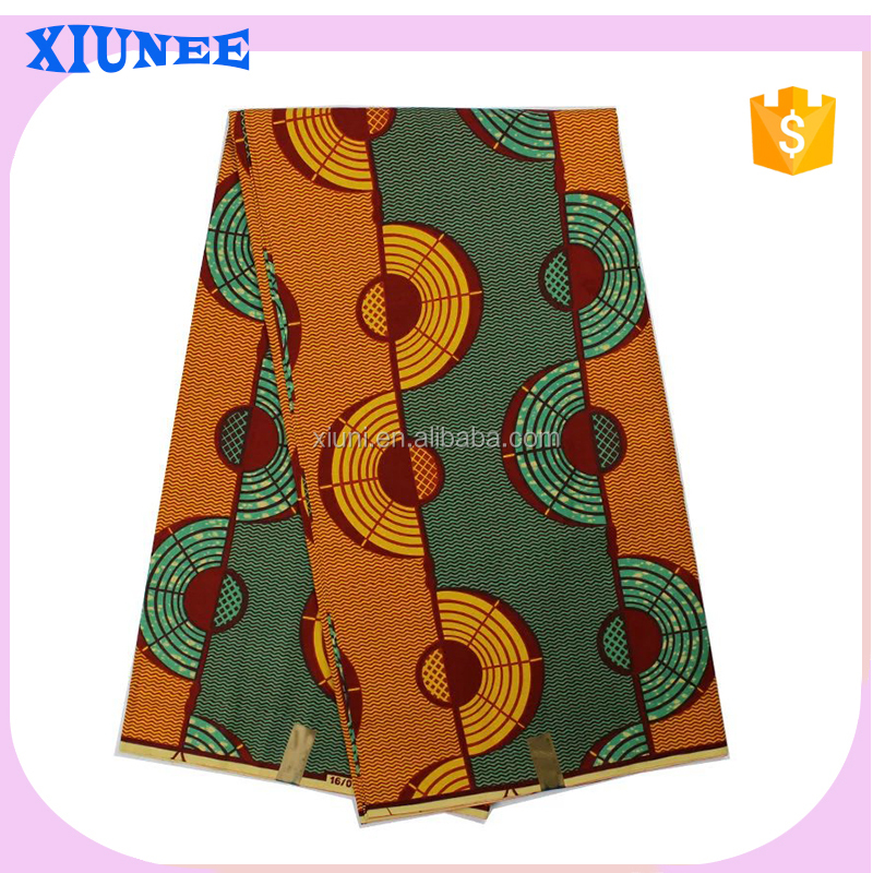 2016 Wonderful veritable wax block prints fabric batik real super wax fabric for women clothes