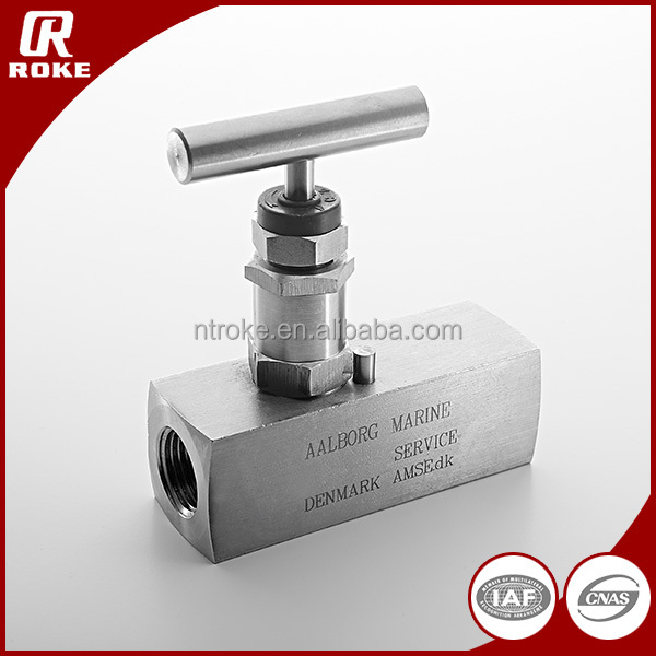 High Pressure Hydraulic Flow Control Stainless Steel Needle Valve