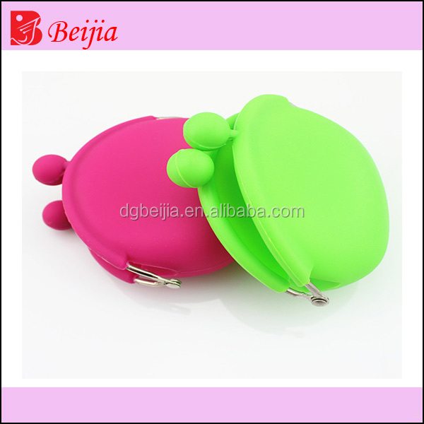 Silicone wallet coin purse bag