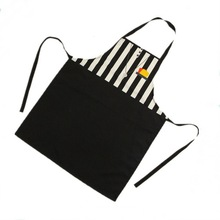 New arrival personalized stripe 100% cotton kitchen cooking apron with custom logo print