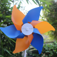 Beautiful garden ornaments blue plastic pinwheel