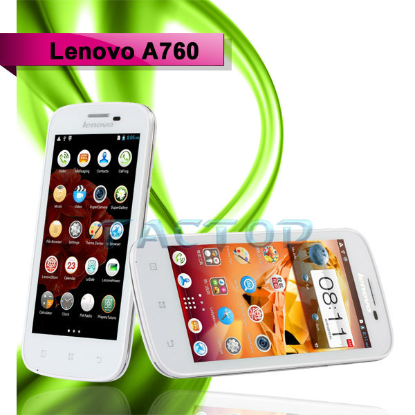 "Lenovo A760 4.5"" Capacitive IPS Touch Android 4.1 Cell Phone Quad Core MSM8225Q 1.2GHz 4GB"