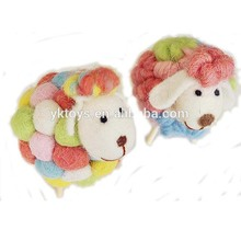Adorable knitted color sheep plush toy