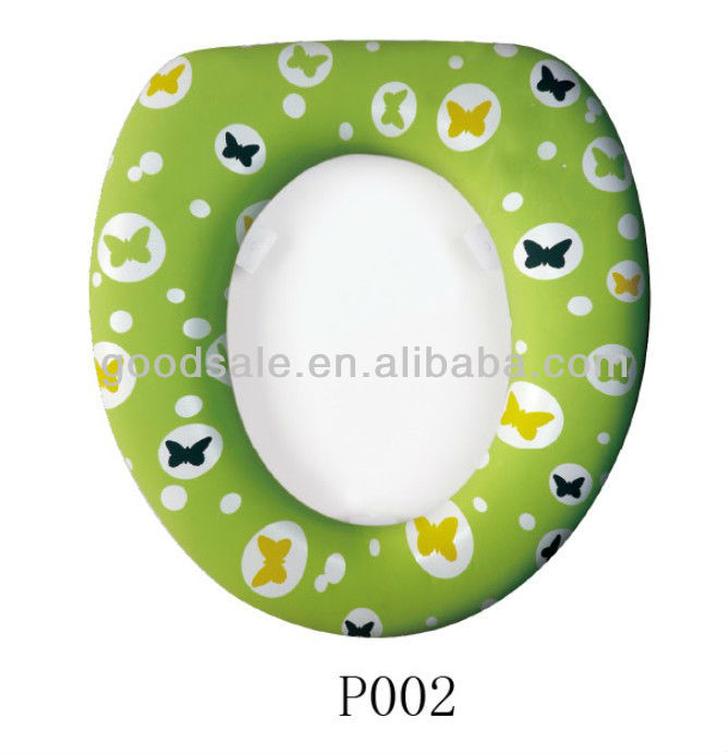 Cartoon Design baby Cushion Traveler Plastic Soft Cover Toilet Seat