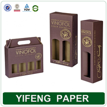 Heavy Duty 2 Bottles 750ml Grape Wine Bottles Corrugated Paper Boxes with Custom Logo Printed