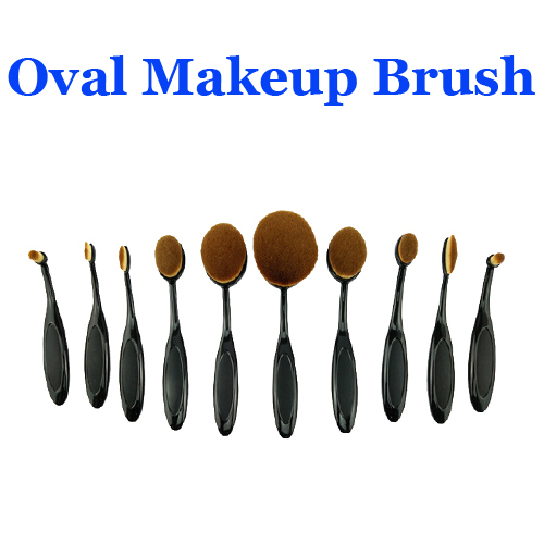 Oval Makeup Brush Set,Cosmetic Foundation Blush Makeup Brush