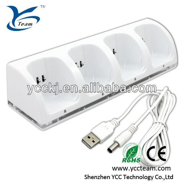 4in1 rechargeble battery Quad charger for wii remote,charger station