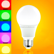 CE/Rhos ul AC100-265V RGB 6500k 1000 lumen a60 10w e27 remote control 16 color changing rgb led light bulb
