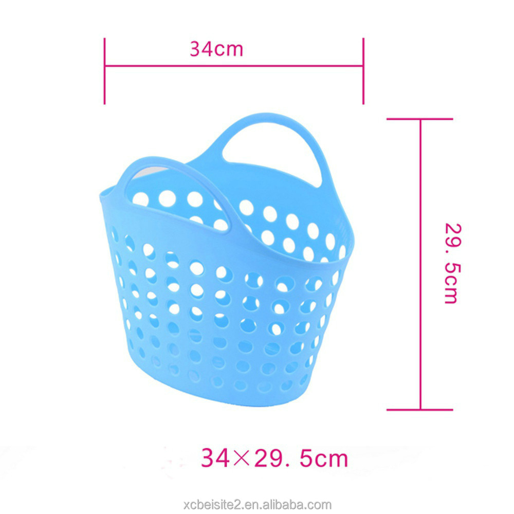 M424 wholesale mesh with handle laundry plastic bathroom basket