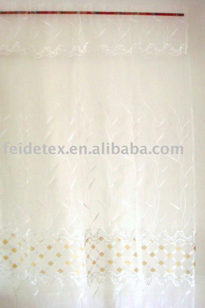 Wholesale High Quality Ready Made Elegant flock design curtain