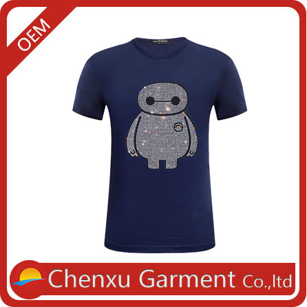 100% cotton fabric couple shirts designer tshirt in china