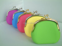 high quality well design set drill metal candy color small silicone wallet purse