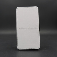 Newest Blank white sublimation Leather flip cover for samsung galaxy S6