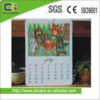Printing Gift Calendar Card for Market/Discount promotion