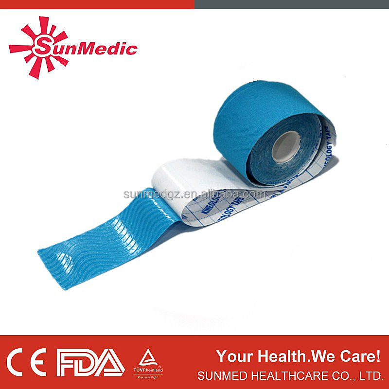 CE approved kinesiology cotton different shape sport(athletic) tape medical sport tape skin sport tape