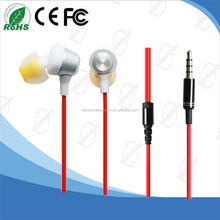 Wired and Comfortable In-ear Metal Earphone without MIC for Mp3/Computer/Mobile phone