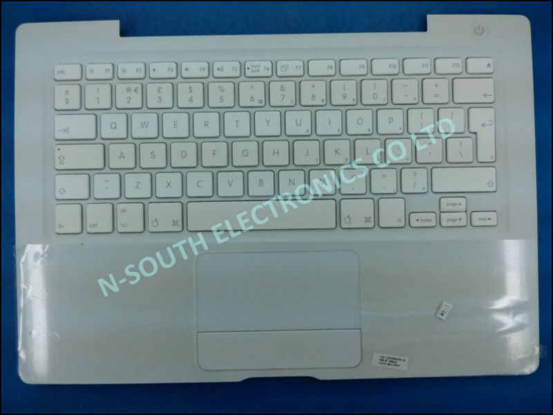2014 wholesale lots for sale laptop keyboard for apple a1181 UK version white with palmrest