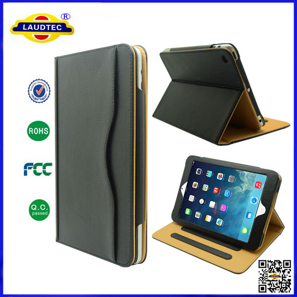 Wallet Leather Unbreakable Protective Case Cover For iPad Mini--Laudtec