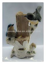 Polyresin antique bird figurine