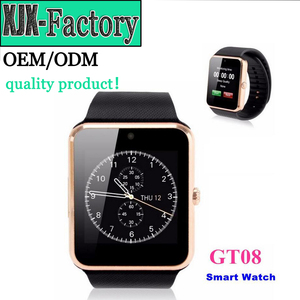 Top 3 factory!Low Price smart watch gt08 with sim card vs dz09 NFC camera aplus support SIM