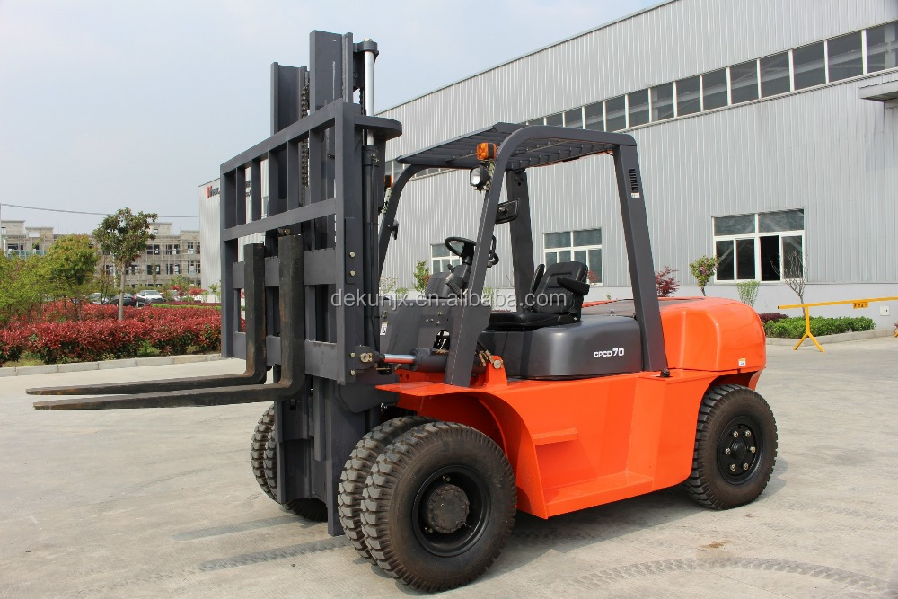 Widely Used Automatic Clamp Toyota 7 Ton Forklift Truck With Hinged Fork