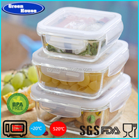 High Borosilicate Glass Square Shape Storage Fresh Food Container