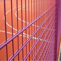 Double Wire Mesh Fence Panel/Ornamental Double Loop Wire Fence/Lattice Fence Panels