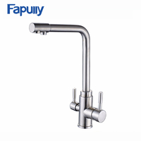 Fapully high quality kitchen faucet taps 3-way kitchen sink mixer tap