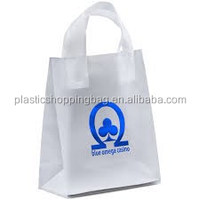 Semi Transparent Plastic Bag OEM Custom Printed Plastic Shopping Bag