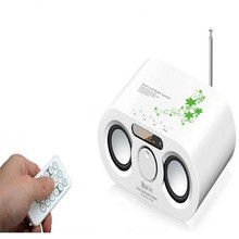 Old fashion fm radio usb sd card reader speaker with remote control