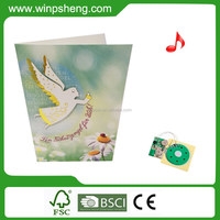 2015 New custom recordable greeting card music chip for toys