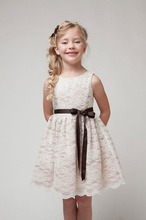 Free shipping <strong>Girl's</strong> Sleeveless <strong>Dress</strong> Princess lace skirt Kids Party Clothing For Girls good quality 3colors