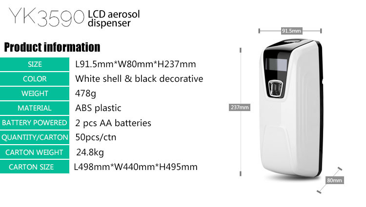 China Supplier High Quality Light Sensor Lcd Aerosol Dispenser Abs ...